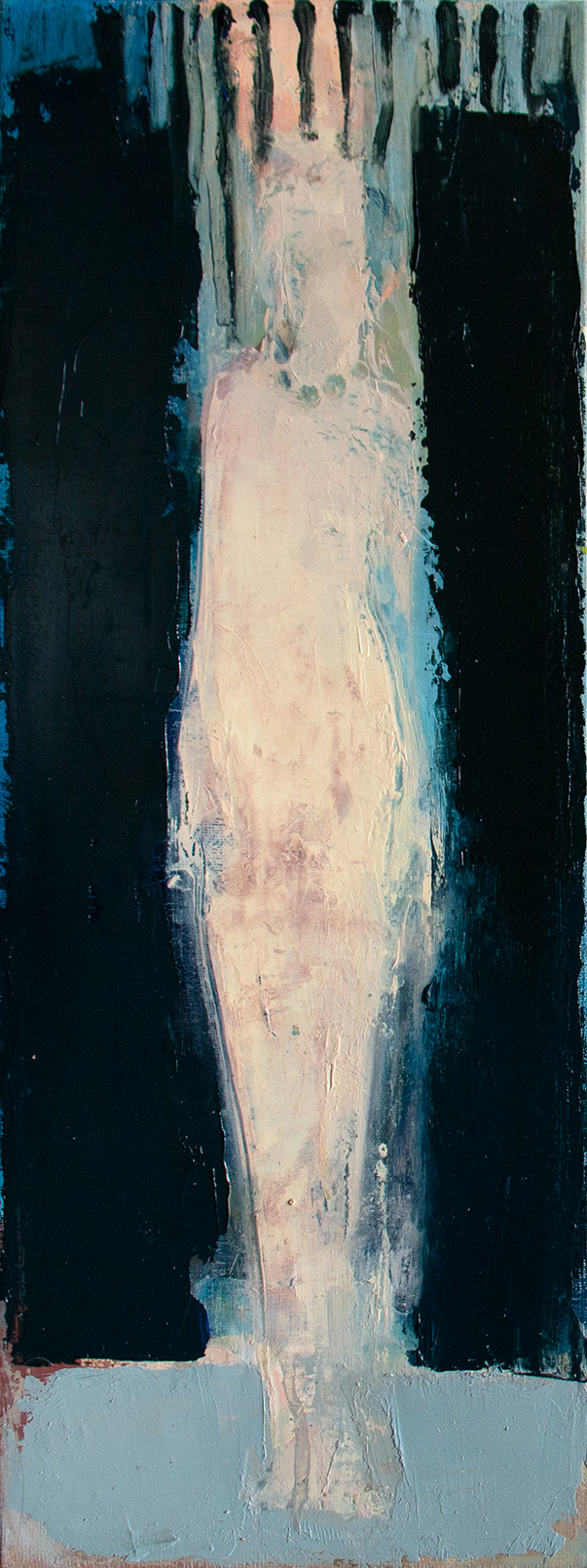 Ing Aru_Blue I_2018_oil on canvas_40 x 15 cm