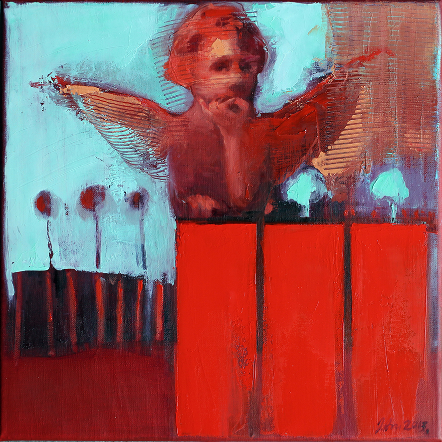 Inga Aru_Angel_2013_oil on canvas_30 x 30 cm