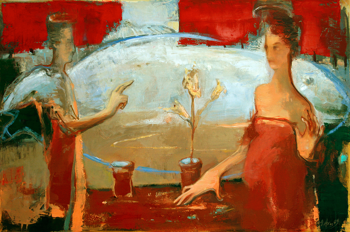 Inga Aru_Annunciation_2009_oil on canvas_40 x 60 cm