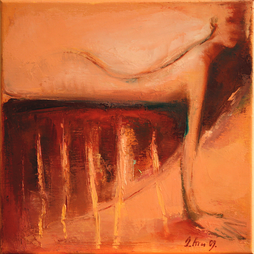 Inga Aru_AugenblickXVIII_2009_oil on canvas_30 x 30 cm
