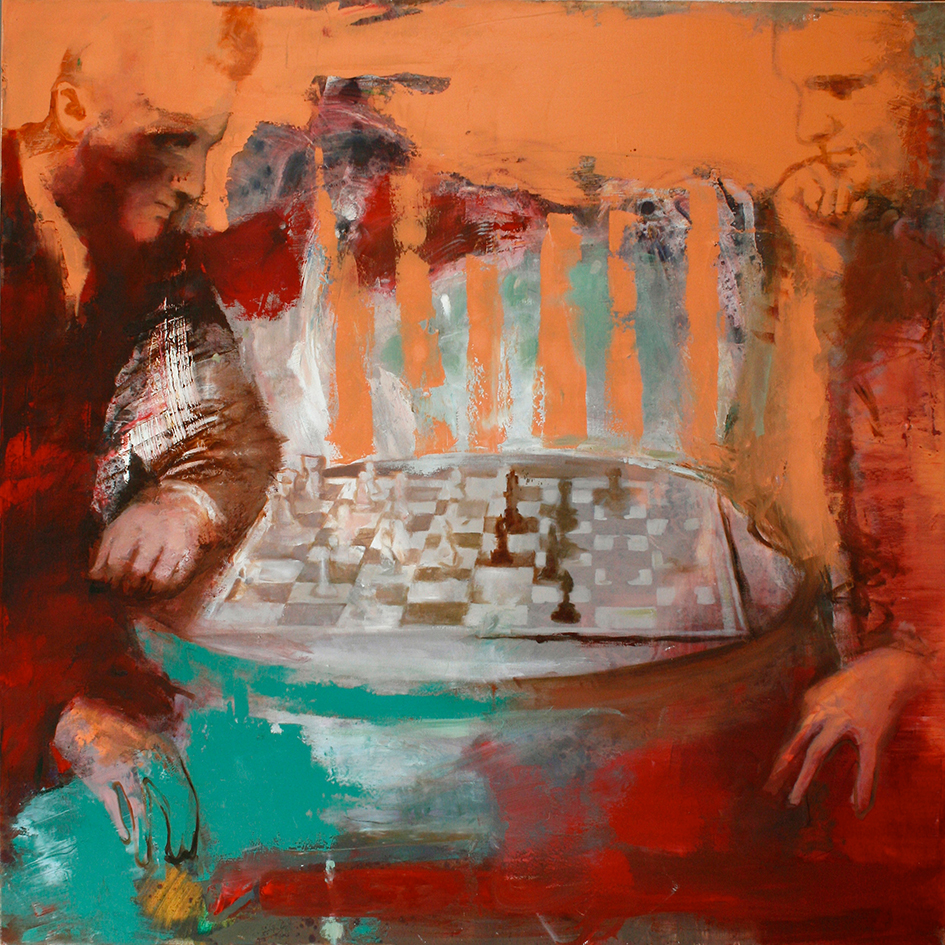 Inga Aru_Chess_2009_oil on canvas_100 x 100 cm