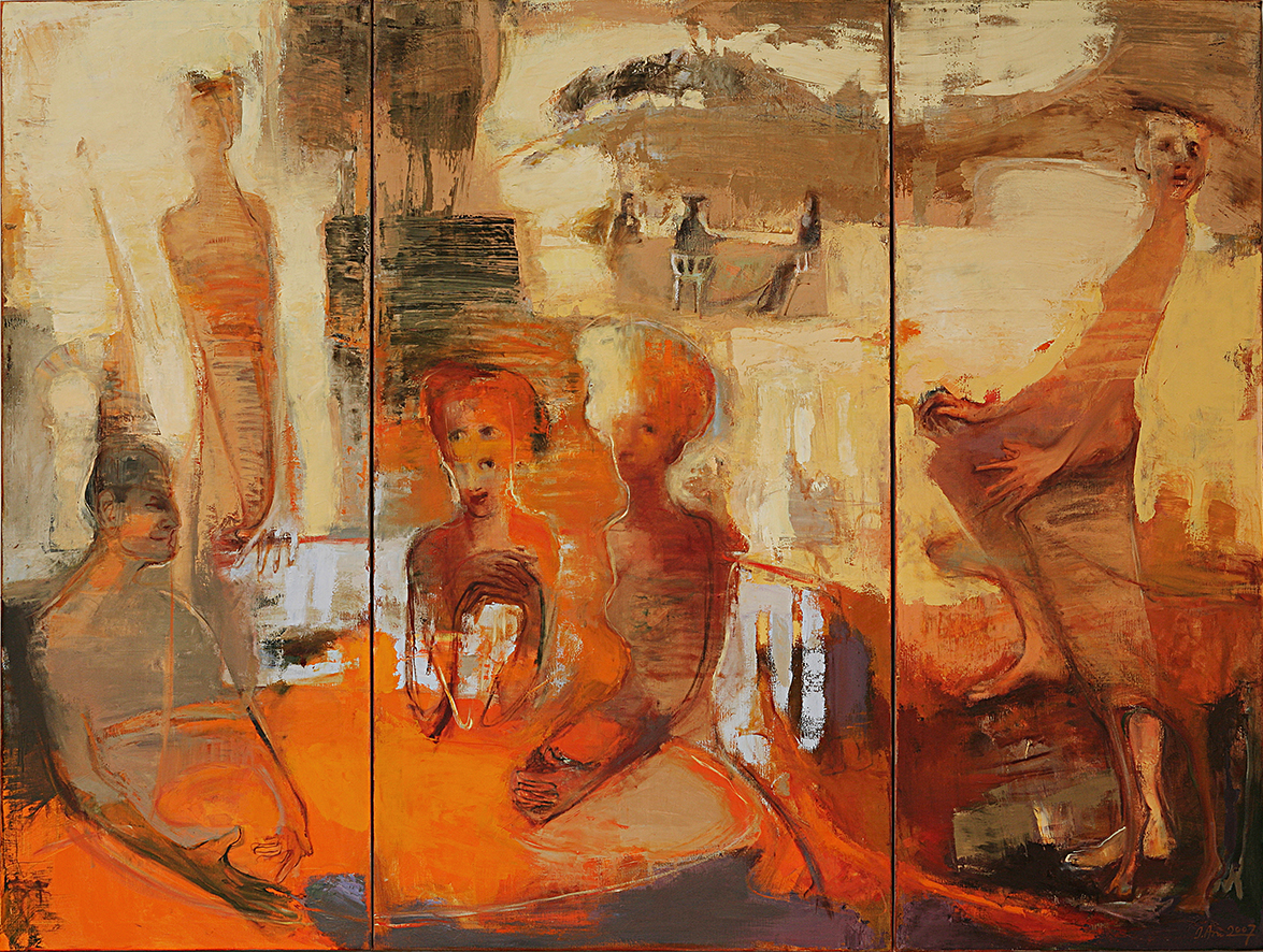 Inga Aru_Game_2007_oil on canvas_180 x 238 cm