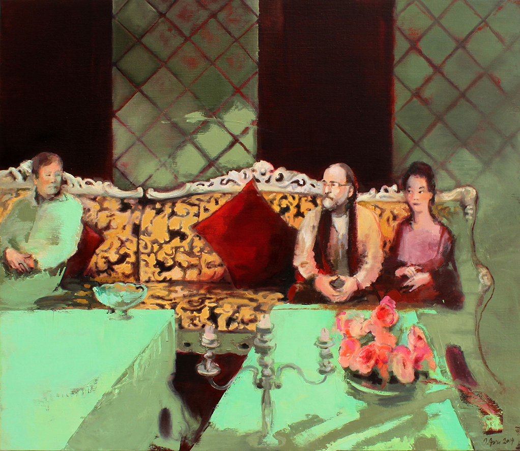 Inga Aru_Karaoke_2014_oil on canvas_120 x 140 cm