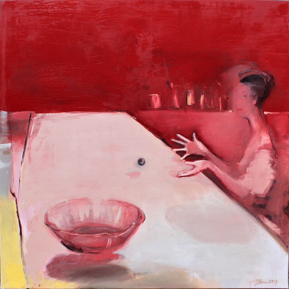 Inga Aru_Moments 1_2013_oil on canvas_135 x 135 cm