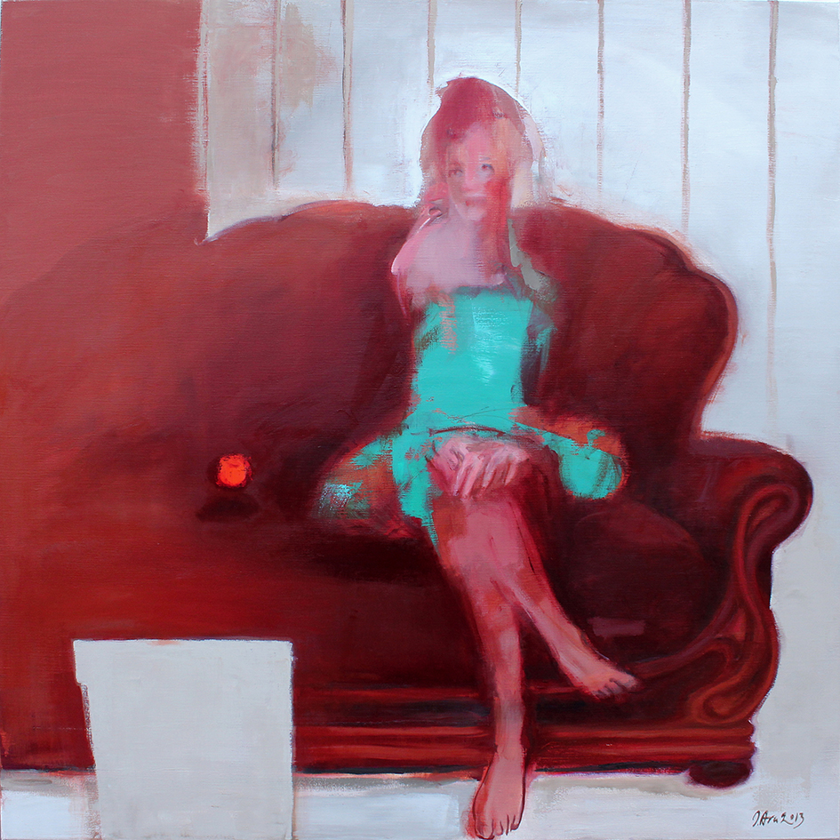 Inga Aru_Moments 2_2013_oil on canvas_135 x 135 cm