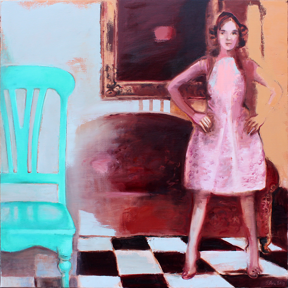 Inga Aru_Moments 3_2013_oil on canvas_135 x 135 cm