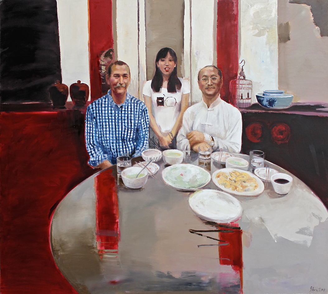 Inga Aru_Table 1_2011_oil on canvas_160 x 180 cm
