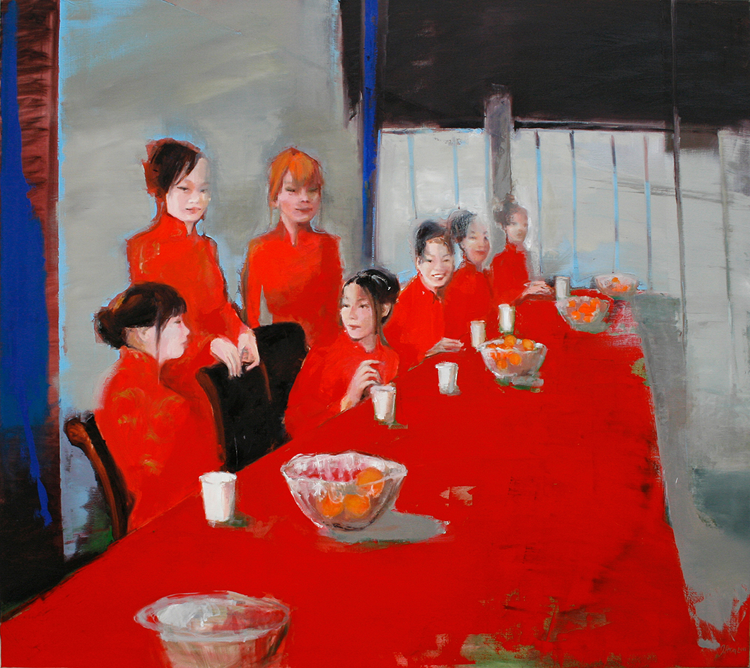 Inga Aru_Table 3_2011_oil on canvas_160 x 180 cm