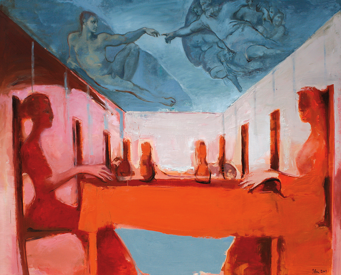 Inga Aru_Tisch II_2009_oil on canvas_160 x 200 cm
