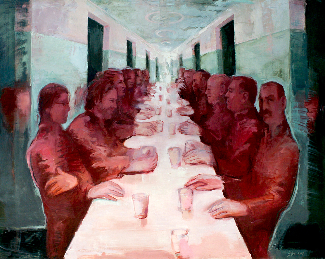 Inga Aru_Tisch I_2009_oil on canvas_160 x 200 cm